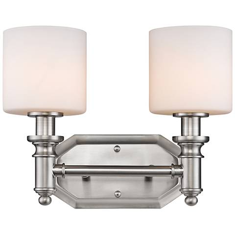 "Beckford 10 1/2"" High Pewter 2-Light Wall Sconce"