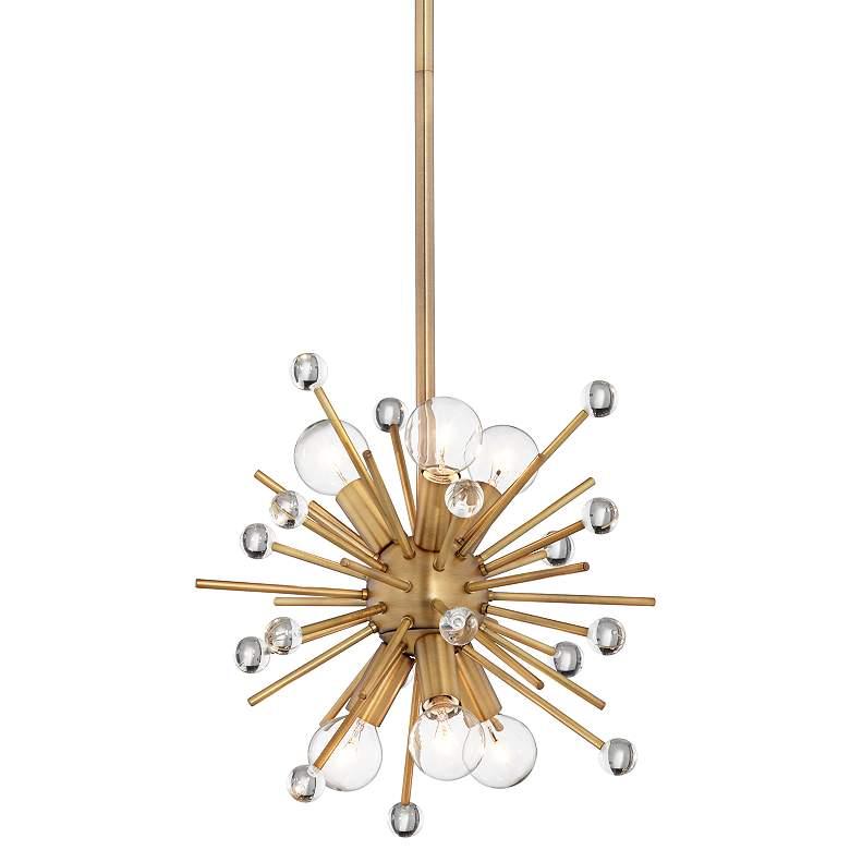 "Possini Euro Janae 12""W Antique Gold 6-Light Mini Pendant"