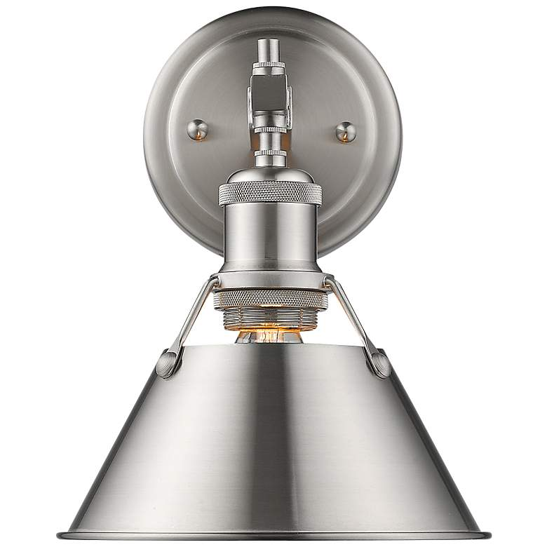 """Orwell 10"""" High Pewter Wall Sconce"""