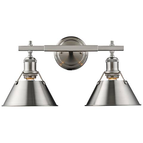 """Orwell 10"""" High Pewter 2-Light Wall Sconce"""