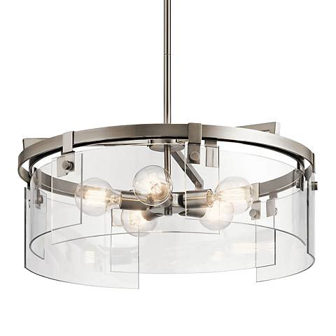 """Kichler Tiers 24"""" Wide Classic Pewter 5-Light Pendant"""