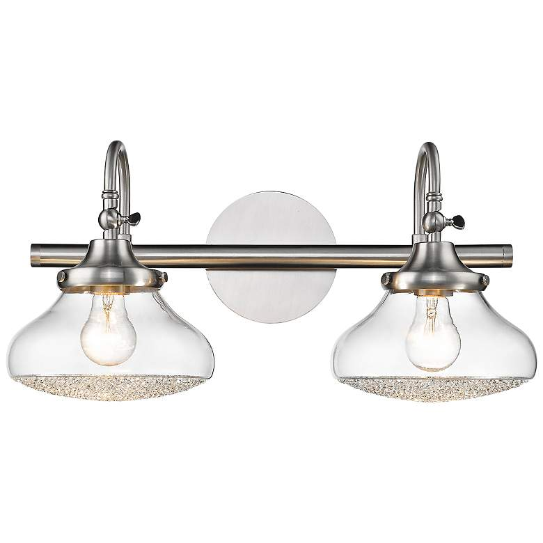 """Asha 10 1/4"""" High Pewter 2-Light Wall Sconce"""