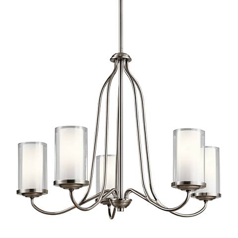 "Kichler Lorin 25"" Wide Classic Pewter 5-Light Chandelier"