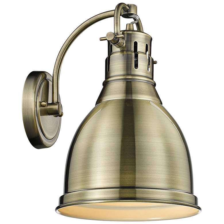 """Duncan 13"""" High Aged Brass Wall Sconce - #42D84 