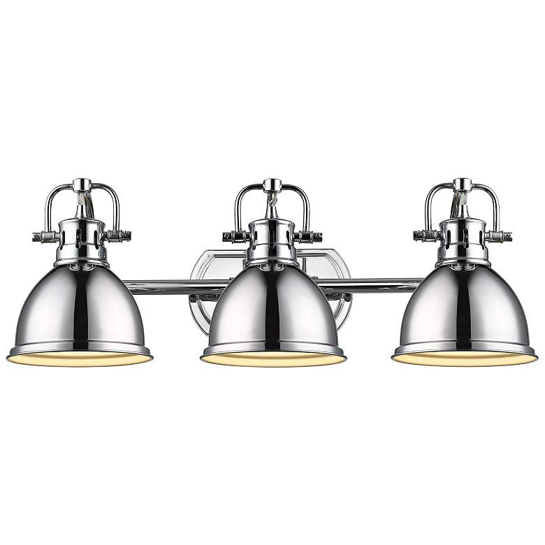 "Duncan 24 1/2"" Wide Chrome 3-Light Bath Light"
