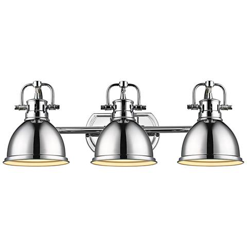 "Duncan 24 1/2"" Wide Chrome 3-Light Bath Light"