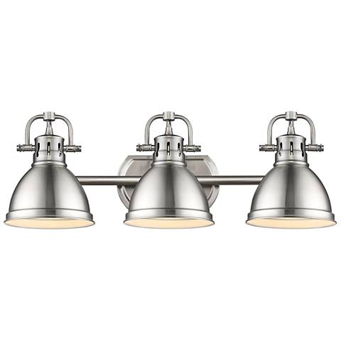 "Duncan 24 1/2"" Wide Pewter 3-Light Bath Light"