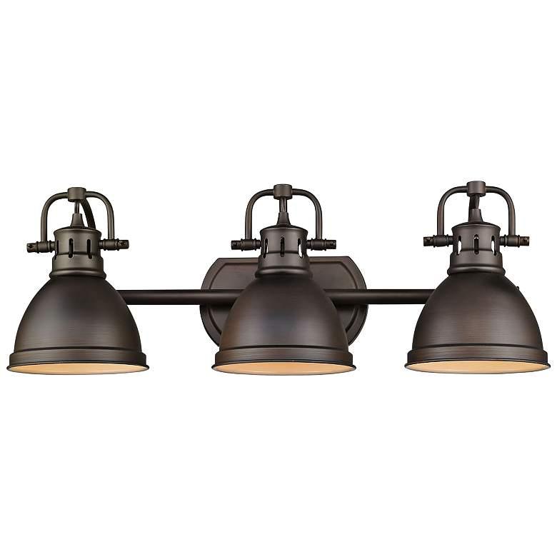 """Duncan 24 1/2"""" Wide Rubbed Bronze 3-Light Bath Light"""