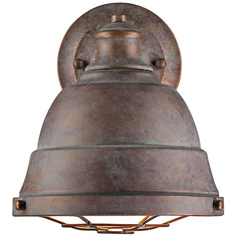 "Bartlett 10 1/4"" High Copper Patina Wall Sconce"