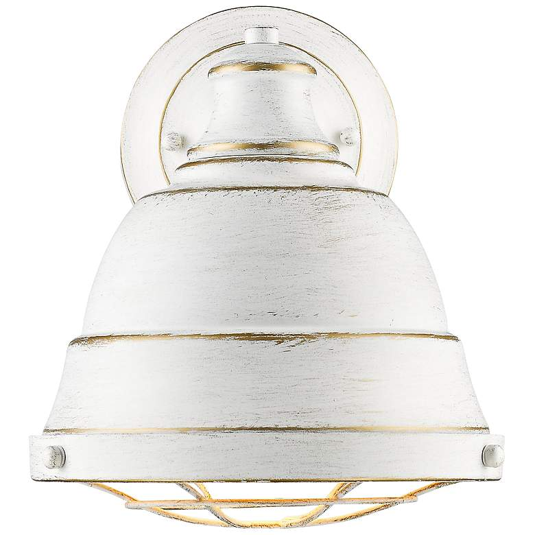 """Bartlett 10 1/4"""" High French White Wall Sconce"""