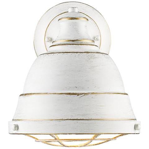 "Bartlett 10 1/4"" High French White Wall Sconce"