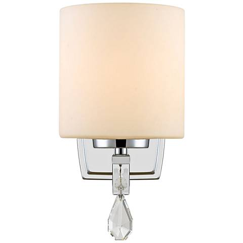 "Evette 10 3/4"" High Chrome Wall Sconce"