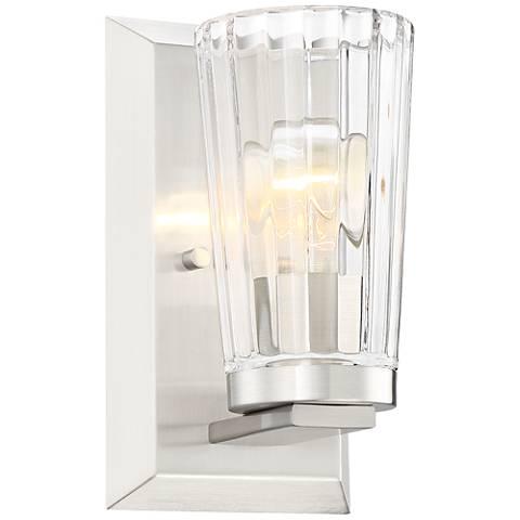 "Possini Euro Porter 8 3/4"" High Beveled Glass Wall Sconce"