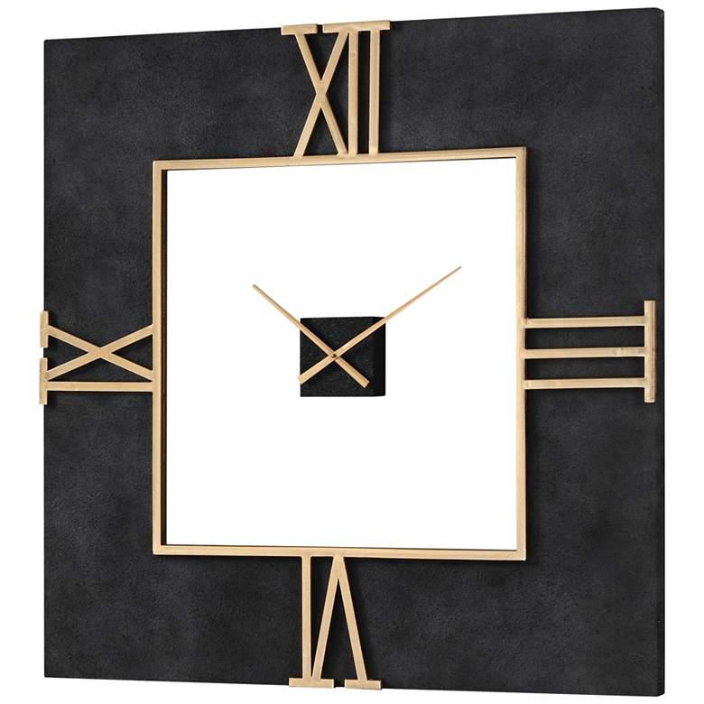 "Uttermost Mudita Textured Black 40"" Square Wall Clock"