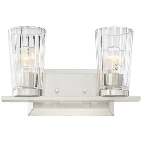 "Possini Euro Porter 13""W Beveled Glass 2-Light Bath Light"