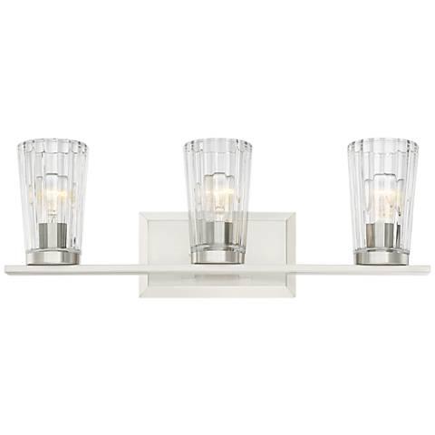 "Porter 22 1/4"" Wide Beveled Glass 3-Light Bath Light"