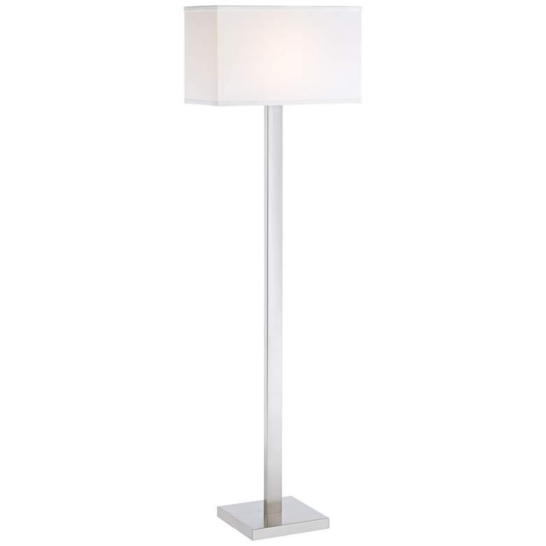 42F03 - Modern Brushed Nickel Floor Lamp