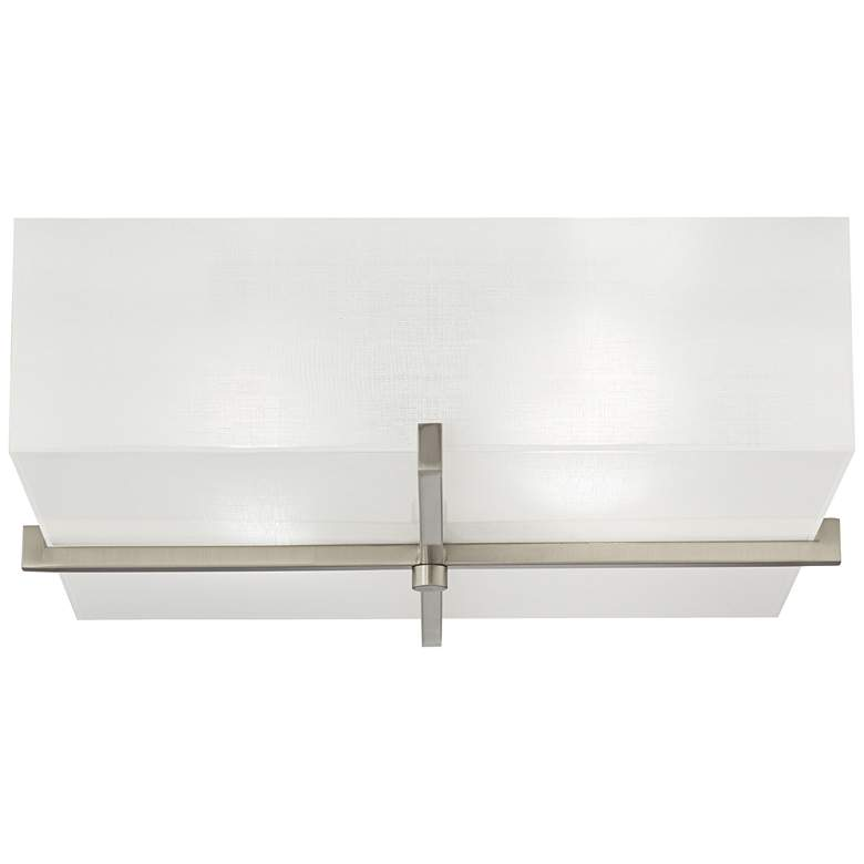 """42F07 - 18"""" Square Flush Mount Fixture in Brushed Nickel"""