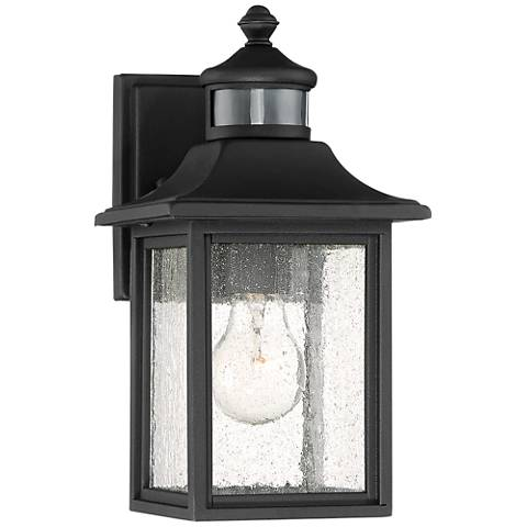 """Moray Bay 11 1/2""""H Black Motion Sensor Outdoor Wall Light"""