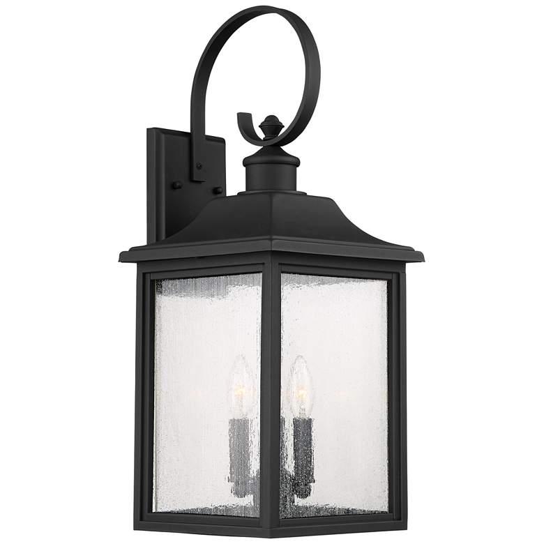 """Moray Bay 24"""" High Black 3-Light Outdoor Wall Light"""