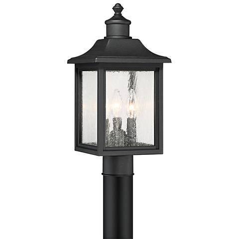 """Moray Bay 17"""" High Black 3-Light Outdoor Post Light"""
