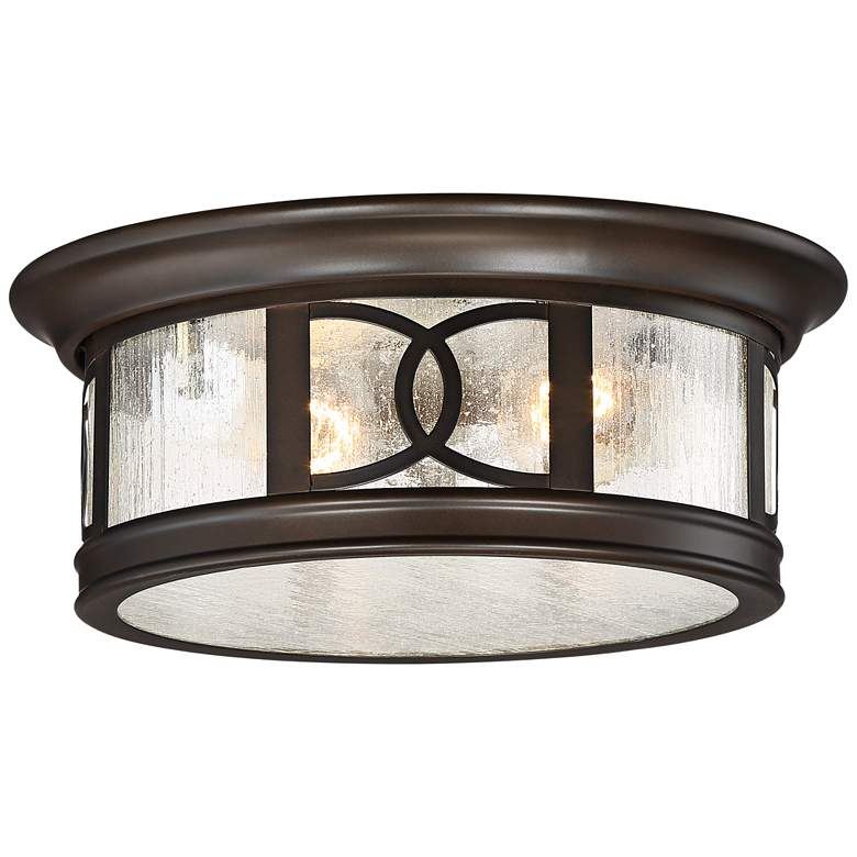 "Capistrano 12"" Wide Bronze 2-Light Outdoor Ceiling Light"