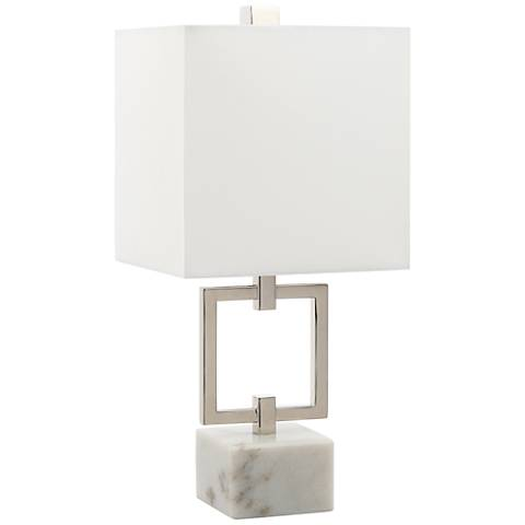 """Ulfinian Polished Nickel 15"""" High Accent Table Lamp"""