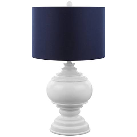 Bartolini Burmese White Table Lamp