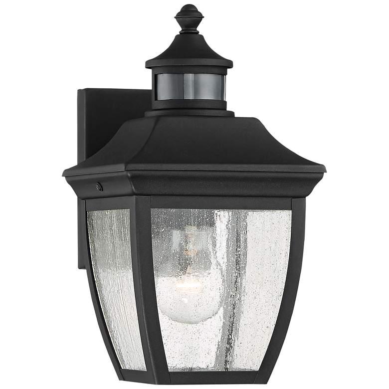 """Beaufort 12"""" High Black Motion Sensor Outdoor Wall Light"""
