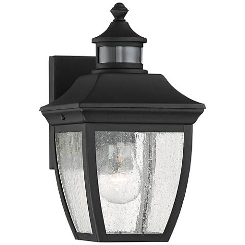 "Beaufort 12"" High Black Motion Sensor Outdoor Wall Light"