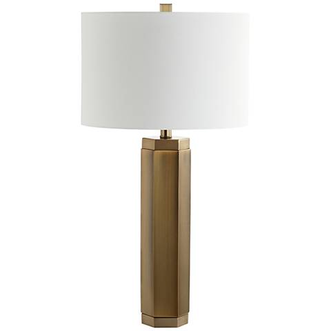 Pomona Vintage Brass Hexagon Metal Table Lamp