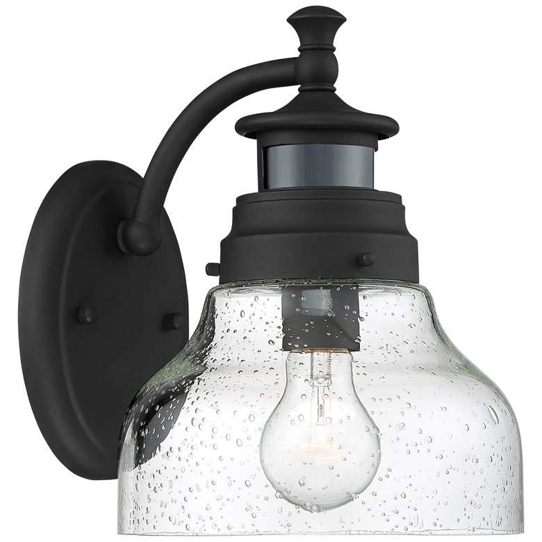 "Nobel 10"" High Black Motion Sensor Outdoor Wall Light"