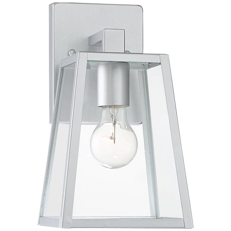 "Arrington 10 3/4"" High Glass and Silver Outdoor Wall Light"