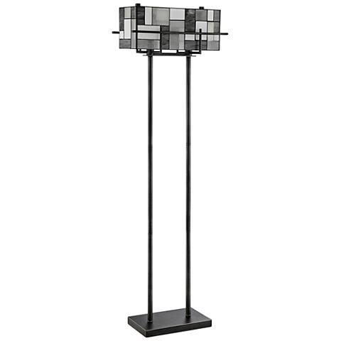 Lite Source Collins Aged Gunmetal Floor Lamp