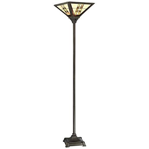 Lite Source Brayton Dark Bronze Torchiere Floor Lamp