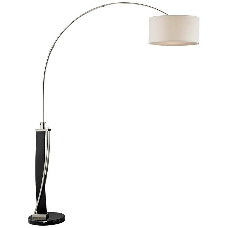 Lite Source Estella Dark Walnut Arc Floor Lamp