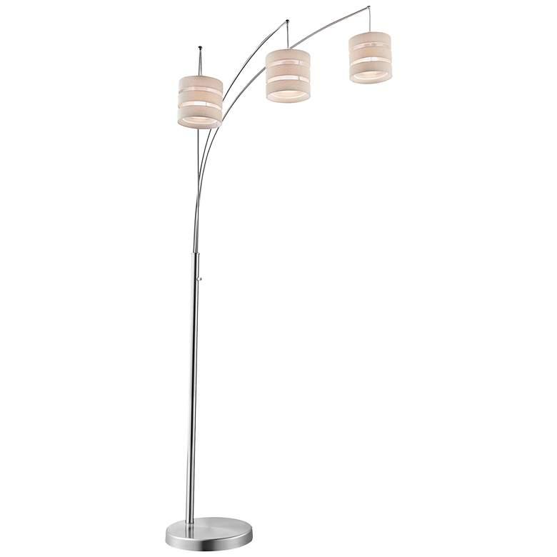 Lite Source Falan Brushed Nickel 3-Light Arc Floor Lamp
