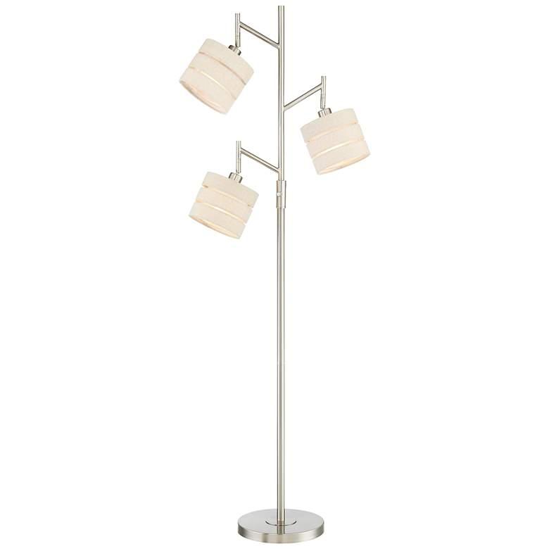 Lite Source Falan Brushed Nickel 3-Light Tree Floor Lamp
