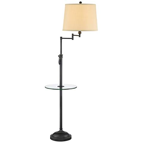 Lite Source Camberley Dark Bronze Floor Lamp with Tray Table