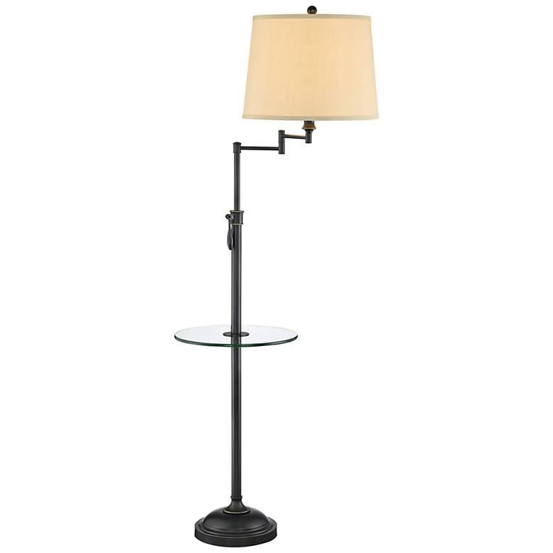 Lite Source Camberley Dark Bronze Floor Lamp with Tray Table