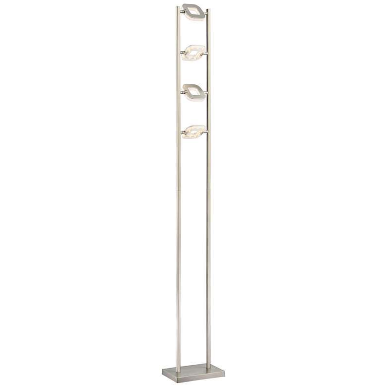 Lite Source Zale Brushed Nickel 4-Light LED Floor Lamp