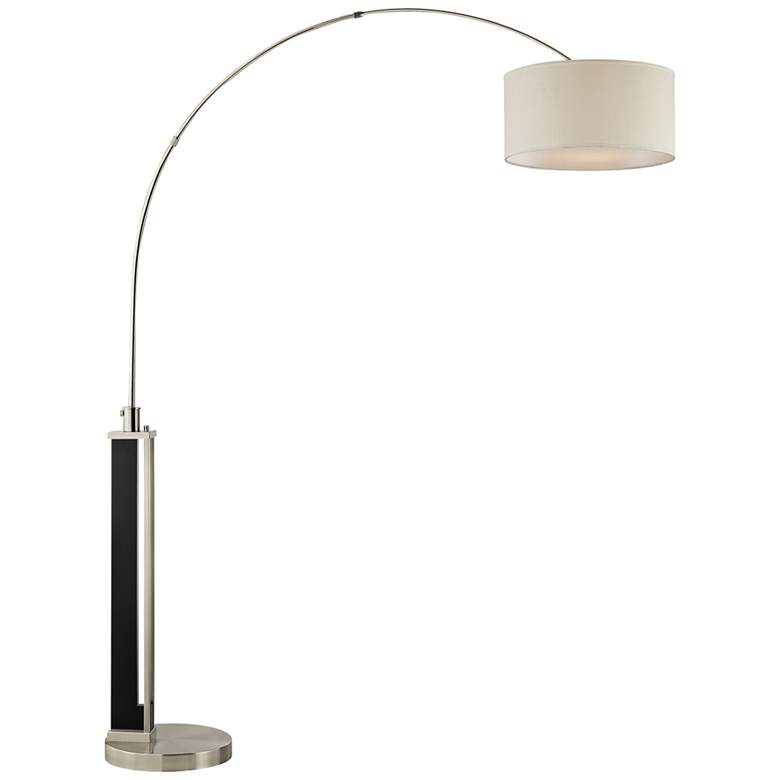 Lite Source Theoris Dark Walnut Arc Floor Lamp