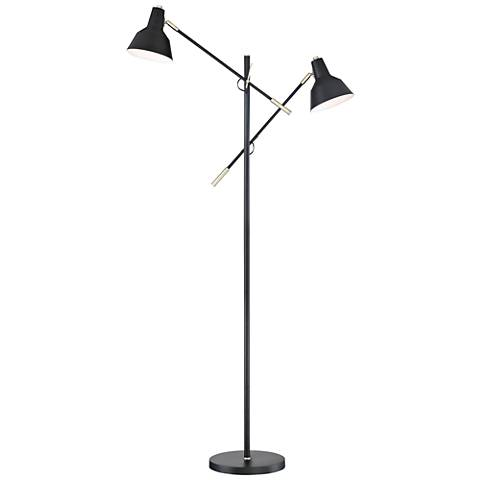 Lite Source Tremont Matte Black 2-Light Floor Lamp