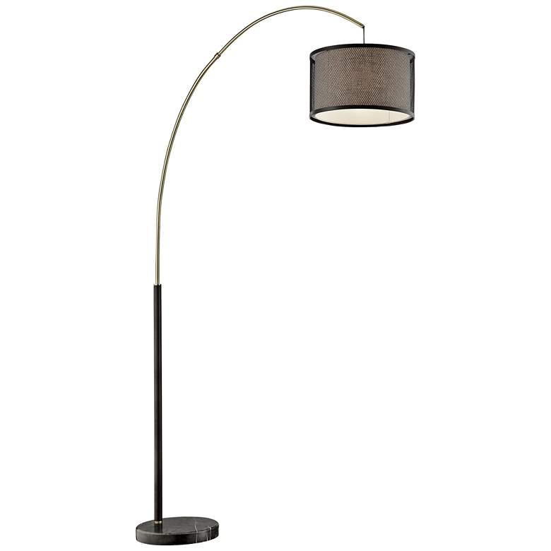 Lite Source Elena Coffee Arc Floor Lamp