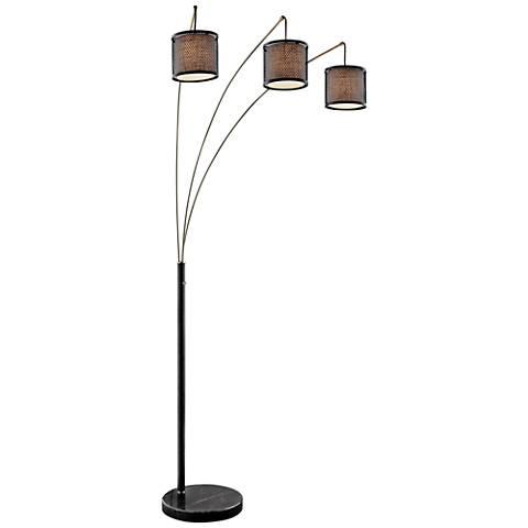 Lite Source Elena Coffee 3-Light Arc Floor Lamp