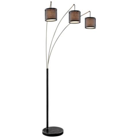Lite Source Elena Coffee 3 Light Arc Floor Lamp 42f95
