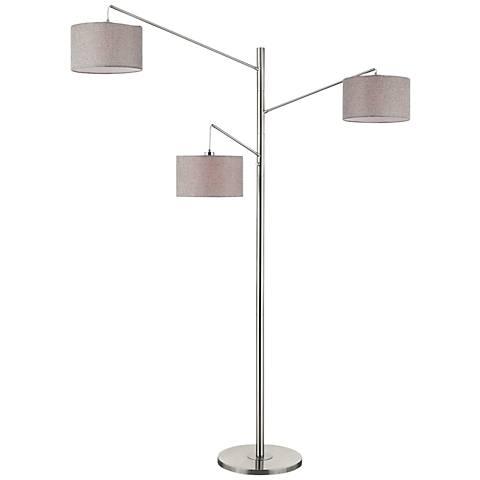 Lite Source Sloane Brushed Nickel 3-Light Tree Floor Lamp
