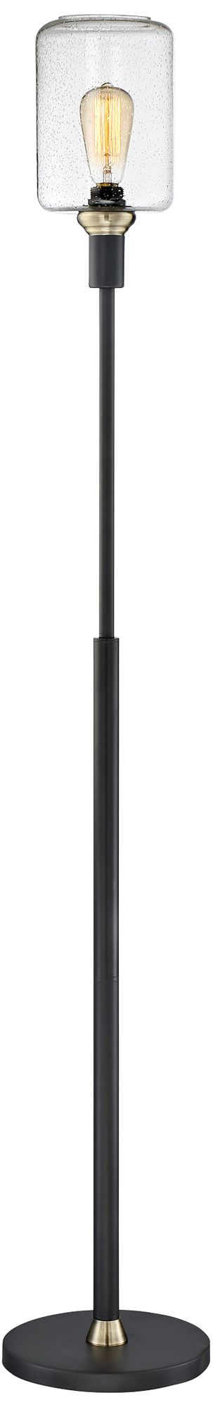 Lite Source Luken Black Uplight Floor Lamp
