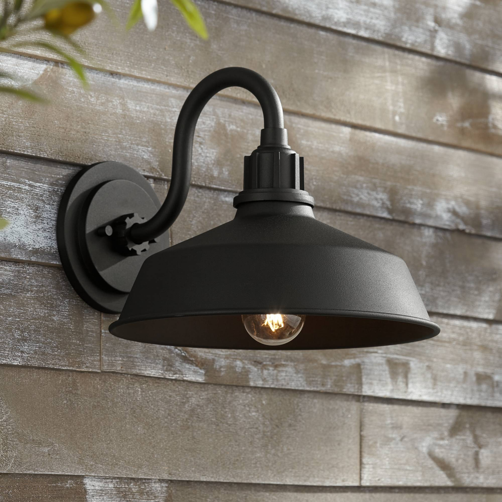 Details About Rustic Outdoor Wall Light Fixture Urban Barn Black 10 1 2 For Exterior House