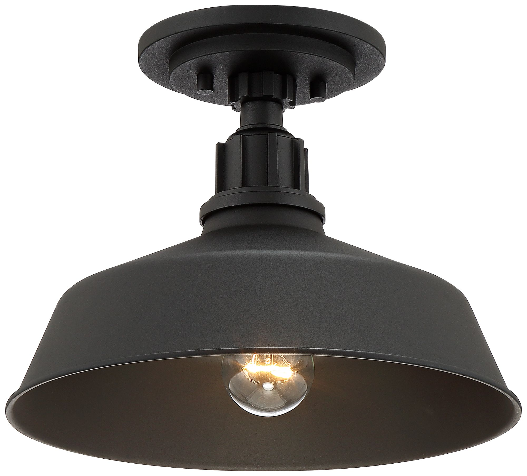 Black Outdoor Ceiling Light